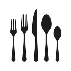 The contours of the cutlery