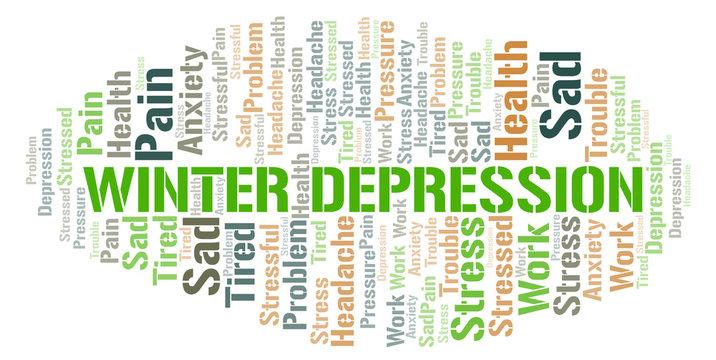 Winter Depression word cloud.