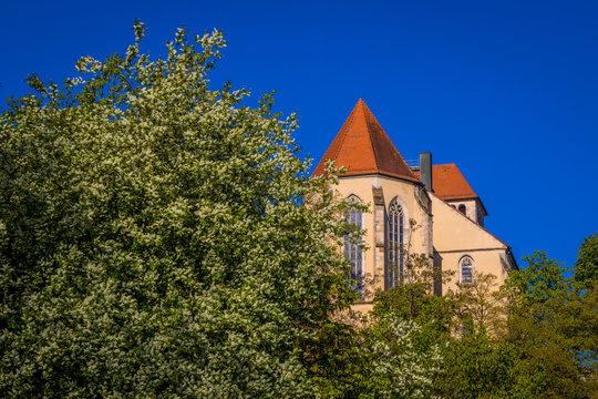 Backnang Stiftskirche vom Annonayplatz