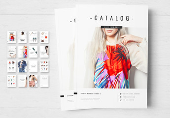 Black and White Product Catalog Layout