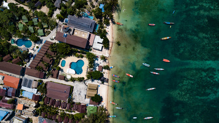 Aerial view of Sairee beach on Koh Tao in Thailand, Asia