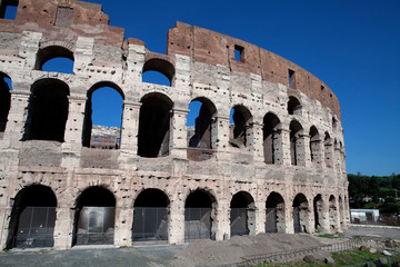 The ruins of the Flavian amphitheater