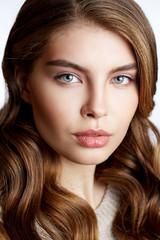 Beauty Portrait. Beautiful Spa Woman beauty headshot make up