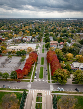 Autumnal View from Nebraska Capitol dome, Lincoln