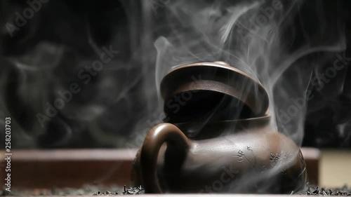 Black tea teapot smoke nobody