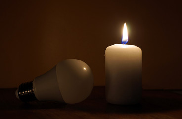 Power outage. Electricity missing. Blackout concept.