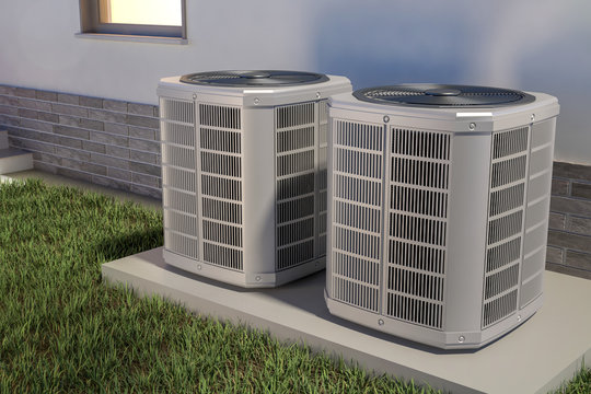 Air heat pumps and house