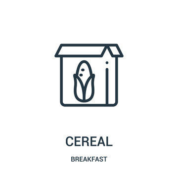 cereal icon vector from breakfast collection. Thin line cereal outline icon vector illustration.