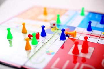 Picture of ludo board game.