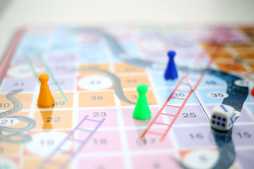 Picture of snakes and Ladders Game.