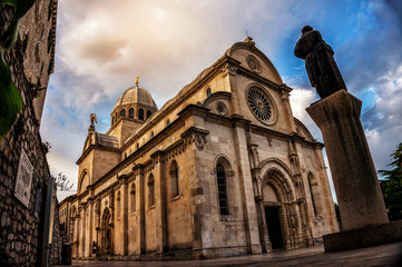 Cathedral of St James in Sibenik, Croatia - St James Cathedral is the most important architectural monument of the Renaissance era in Croatia. The Cathedral was listed as the UNESCO World Heritage. Fototapete