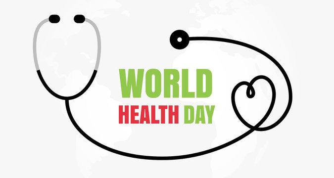 World Health Day Concept, Medicine and Healthcare Symbol