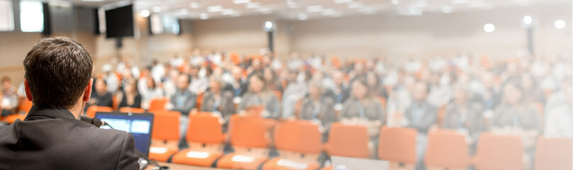 Speaker at Business Conference and Presentation, template