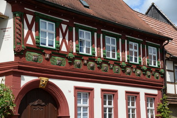 Fototapete - Fachwerkhaus in Königsberg in Bayern