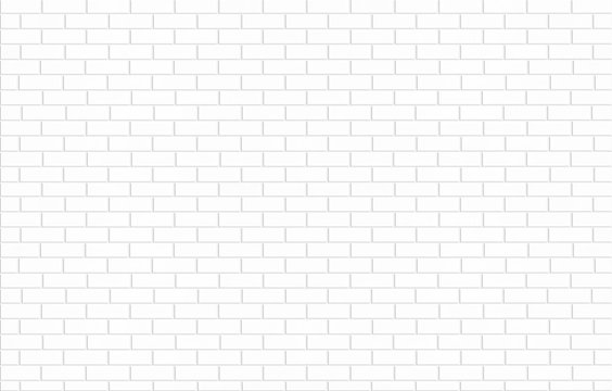 white brick tile wall ceramic texture for background