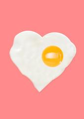Alternative breakfest - best start of the day. Lovely snack is fried egg. Heart shaped omelette...