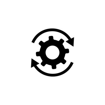 Workflow gears with arrows icon