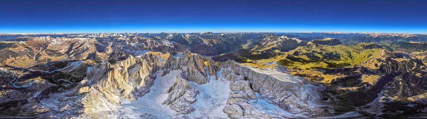360° 3d render of the italian dolomites