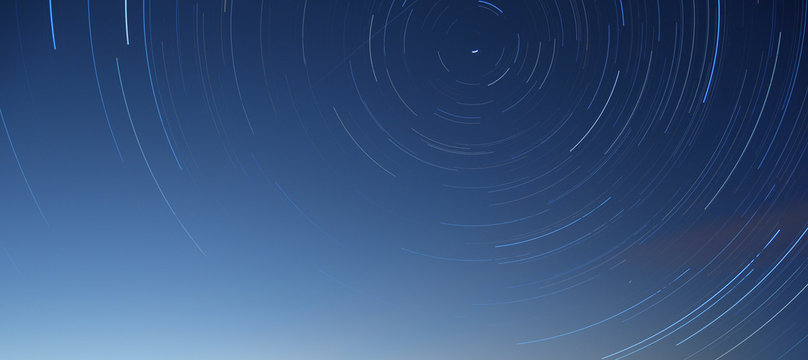 Rotation of the stars around the pole star