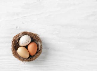nest of easter eggs