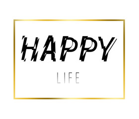 Happy life stylish t-shirt and apparel abstract design. Endless summer t-shirt and apparel modern design with styled.