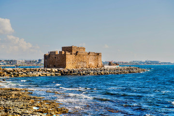 Deurstickers Noord Europa Cyprus and its vicinities, the ancient castle on the island Paphos