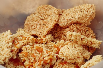 Thai crispy rice cracker