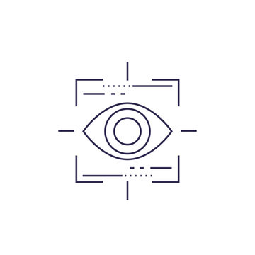 Machine vision, vector line icon