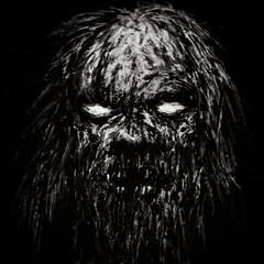 Scary old zombie vampire