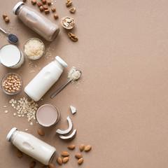 Various plant based milk