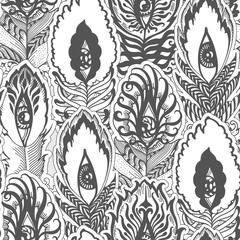 feather pattern scale