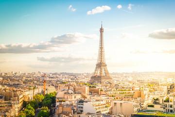 eiffel tour and Paris cityscape Fototapete