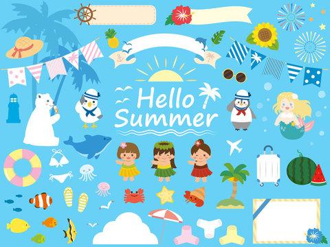 夏のかわいいイラスト素材集