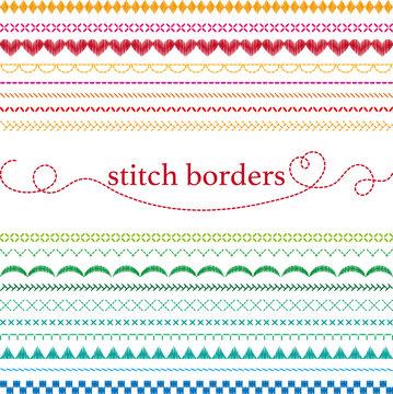 Stitch borders