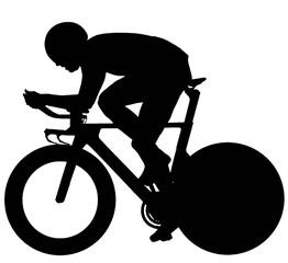Cycliste sur piste ou de contre-la-montre