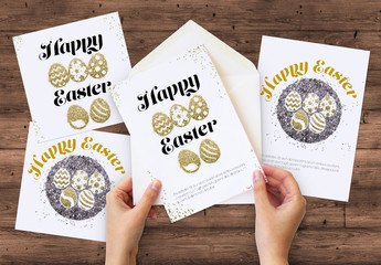 Easter Card Layouts with Glitter