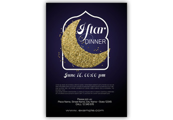 Iftar Dinner Poster Layout