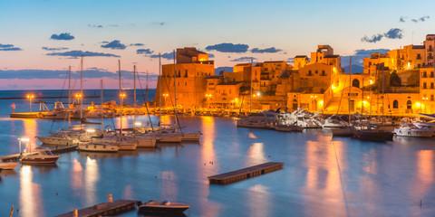 Fototapete - Castellammare del Golfo at sunset, Sicily, Italy