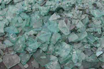 Broken Blue Glass