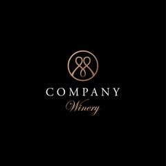 M letter luxury logo design