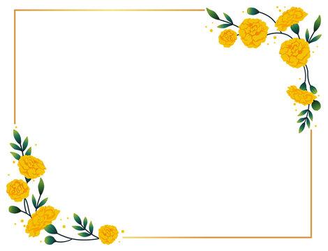 Marigold horizontal frame.