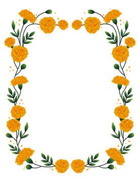 Marigold vertical frame.