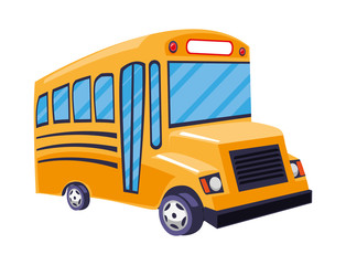 bus school isolated icon