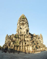 Angkor Wat's central shrine, in Angkor Park, Cambodia, at sunrise