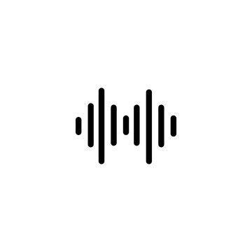 Equalizer sound icon. Adjust music balance sign