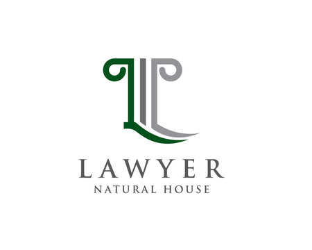 pillar L Lawyer logo design inspiration
