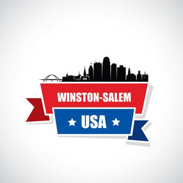 Winston - Salem skyline - North Carolina, United States of America, USA