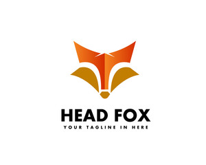 T initial head fox logo design inspiration
