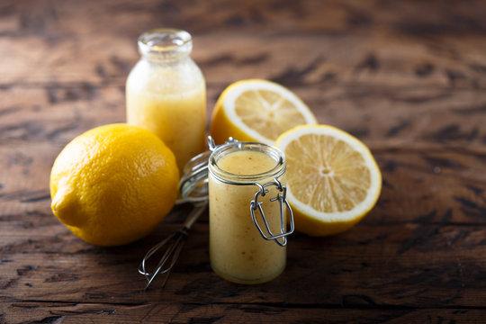 Homemade lemon dressing