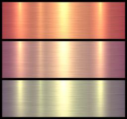 Metal textures orange rose color - brushed metallic background